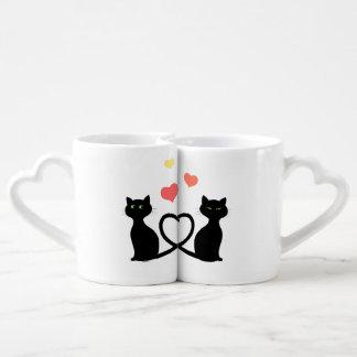 Chats dans l'amour lot de mugs