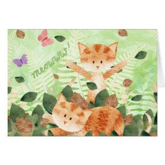 Chats dans le feuille - cartes
