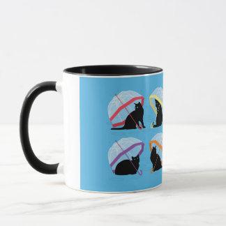 Chats de n pleuvant chats les 'noircissent la mug