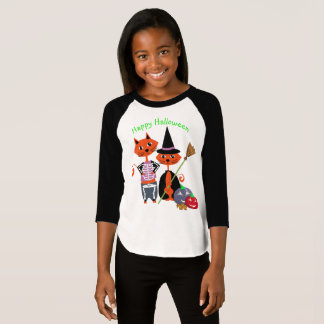 Chats mignons heureux de Halloween T-shirt