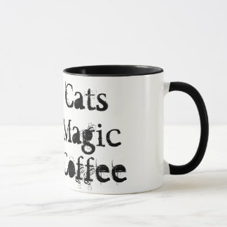 Chats noirs, magie, tasse de &Coffee
