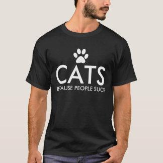 Chats puisque les gens sucent l'empreinte de patte t-shirt