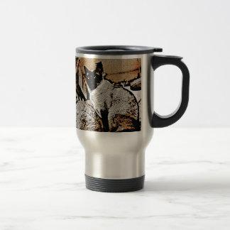 Chats siamois d'autrefois mug de voyage