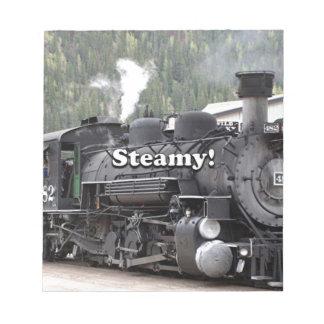 Chaud et humide ! : moteur de train de vapeur, le blocs notes