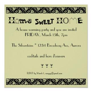 chauffage de maison carton d'invitation  13,33 cm