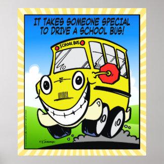 Chauffeur d'autobus scolaire poster
