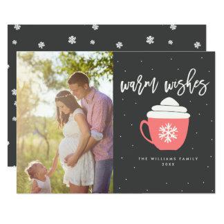 Chauffez les cartes photos de Noël de souhaits