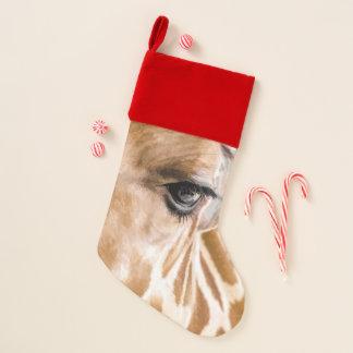 Chaussette De Noël Bas de girafe bonjour