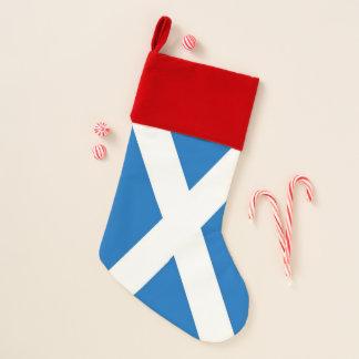 Chaussette De Noël Bas de Noël avec le drapeau de l'Ecosse