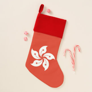 Chaussette De Noël Drapeau de bas de Noël de Hong Kong