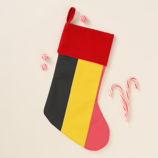 Chaussette De Noël Drapeau de bas de Noël de la Belgique