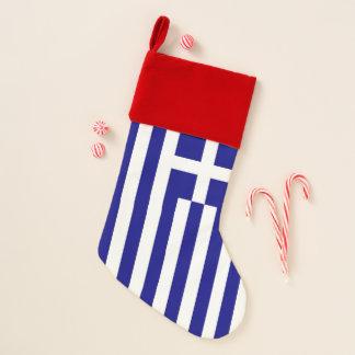 Chaussette De Noël Drapeau de bas de Noël de la Grèce