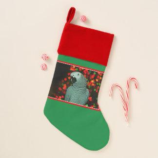 Chaussette De Noël Peinture de perroquet de gris africain avec