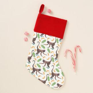 Chaussette De Noël Singes doux jonglant des bananes