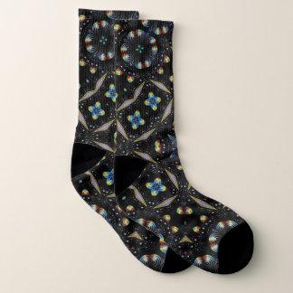 Chaussettes abstraites décoratives noires de