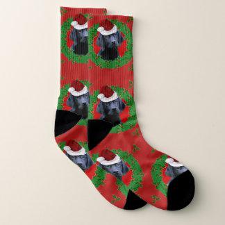 Chaussettes de chien de labrador retriever de Noël