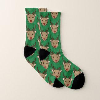 Chaussettes de vacances de renne de Noël