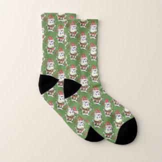 Chaussettes drôles de Noël de motif de vache