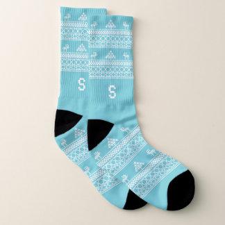 Chaussettes laides de Noël de renne nordique