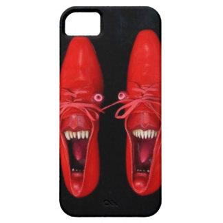Chaussures rouges folles aliénées avec le cas de coques iPhone 5 Case-Mate