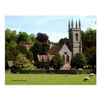Chawton Hampshire - mouton près d'église Carte Postale