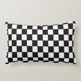 Checkered blanc noir - coussin