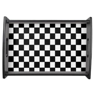 Checkered blanc noir - plateau de portion