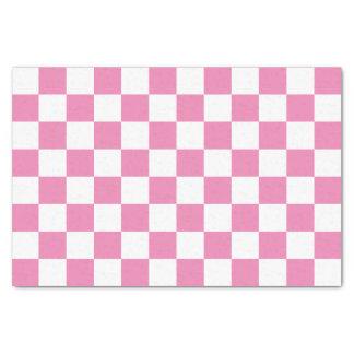 Checkered rose papier mousseline