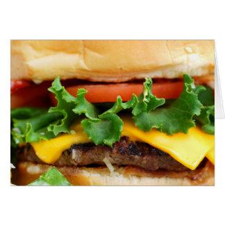 Cheeseburger de lard carte