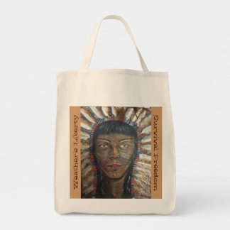 Chef indien indigène sac en toile épicerie