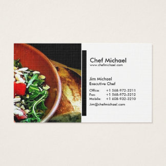 (Chef/restaurant/restauration) cartes de visite