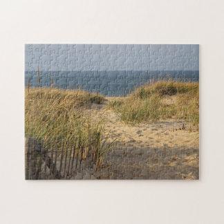 Chemin à travers les dunes de sable puzzle
