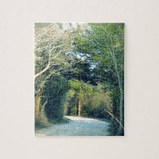 Chemin boisé puzzle