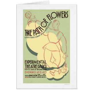 Chemin de comédie de fleurs WPA 1937 Carte