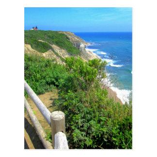 Chemin de falaise de crique de maïs carte postale
