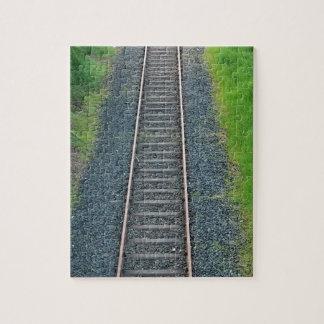 Chemin de fer de voie de train en nature, paysage puzzle