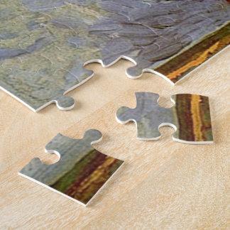 Chemin de Montmartre avec des tournesols par Van Puzzle