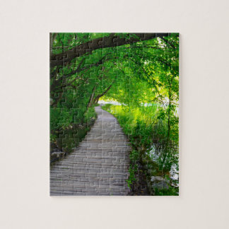 Chemin de randonnée en parc national de Plitvice Puzzle