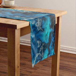 Chemin De Table Court Agate bleue 2