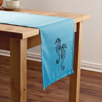 Chemin De Table Court Bleu d'hippocampe