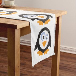 """Chemin De Table Court Cercle de Noël des pingouins 14"""""""" coureur du"""