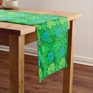 Chemin De Table Court Chrysanthèmes de William Morris, vert de chaux et