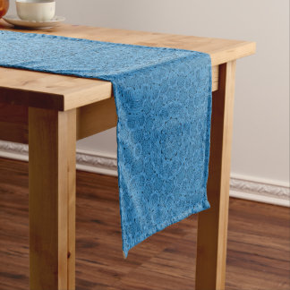 Chemin De Table Court Coureur   bleu décoratif de Tableau de