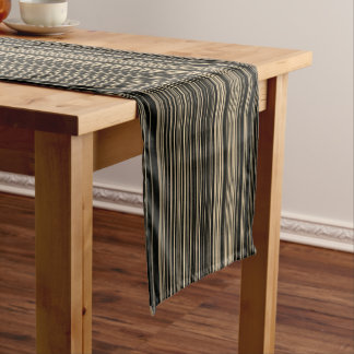 Chemin De Table Court Coureur de table de rayure de taupe beige de Brown