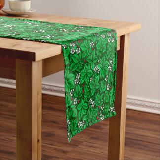 Chemin De Table Court Fraises de Nouveau d'art et feuille, vert vert