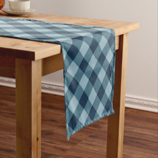 Chemin De Table Court Marine rustique et plaid bleu de Buffalo