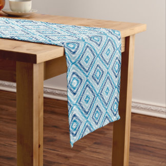 Chemin De Table Court Motif bleu de diamant