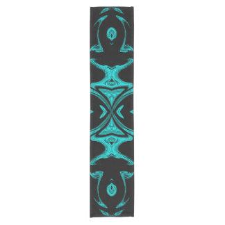 Chemin De Table Court motif de bleu et de noir