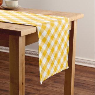 Chemin De Table Court Motif jaune de contrôle de guingan