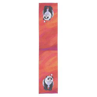 Chemin De Table Court Ours panda dans le casquette de Père Noël sur le